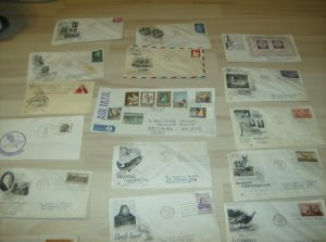 1950's Vintage US First Day Covers Lot Collection
