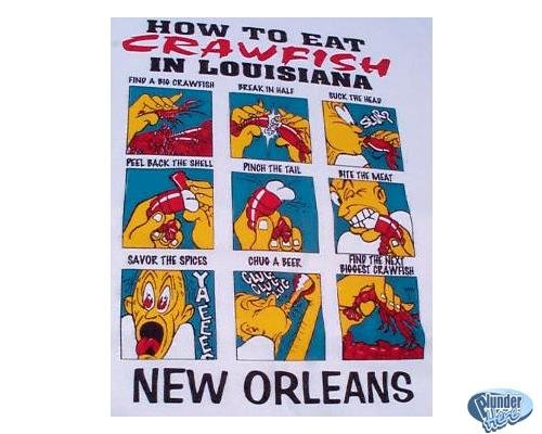 How to Eat Crawfish - Cajun T shirt