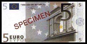 5 EURO SPECIMEN - UNCIRKULATED