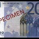 20 EURO SPECIMEN BANKNOTE - UNCIRKULATED