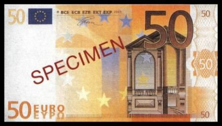 50 EURO SPECIMEN BANKNOTE - UNCIRKULATED