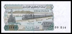 ALGERIA - 10 DINARS 1983 ,Pick 132,  UNCIRKULATED