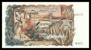 ALGERIA - 100 DINARS 1970 , Pick 128a, UNCIRKULATED - CV 55 USD
