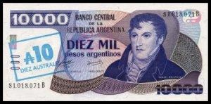 ARGENTINA - 10 AUSTRALES - pick 322c - UNCiRKULATED
