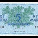 FINLAND - 5 MARKAA 1963 - Pick 99a - UNCIRKULATED