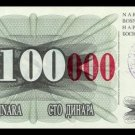 BOSNIA AND HERZEGOVINA - 100 000 Dinara 1993, Pick 56d, UNC