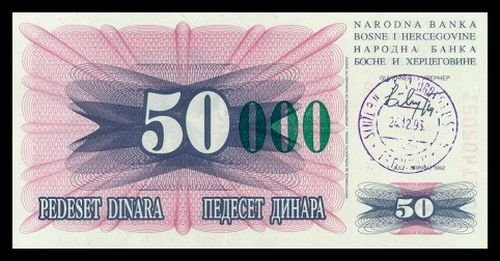 BOSNIA AND HERZEGOVINA - 50 000 Dinara 1993, Pick 55c, UNC
