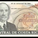 COSTA RICA - 100 COLONES 1993, Pick 261a, UNCIRKULATED