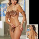 3 Piece Cave Girl Outfit with Hanging Flaps