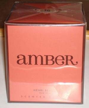 HENRI BENDEL candle AMBER Scent Bath & Body Works scented - burns 60 hours!
