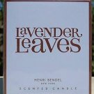 HENRI BENDEL Candle LAVENDER LEAVES Bath & Body Works scented - burns 60 hours!