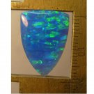 Blue lab created opal cabochon, 20X14.5mm shield