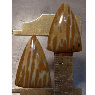 Owyhee picture jasper pair, 24.5X16mm freeform drops