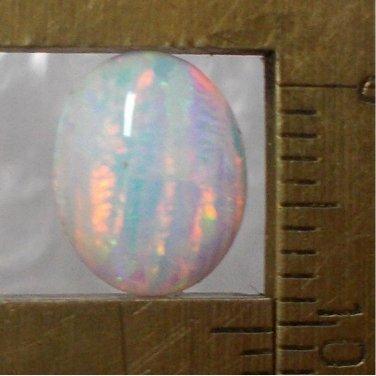 lab created opal, 10X8mm oval