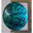 Malachite cabochon, 32X28mm oval