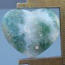 Ocean jasper cabochon, 26.7X22.5mm heart