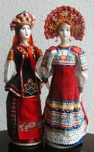 Ukrainian and Russian Ceramic Dolls