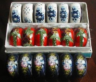 Hand-painted Napkin Rings