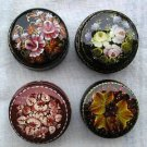 Hand-Painted Lacquer Box w/Floral Design