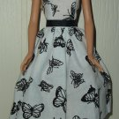 Barbie Doll Type Dress Black Butterfly