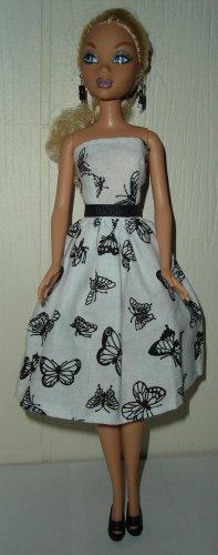 Barbie Doll Type Dress Black Butterfly