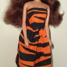 Barbie Doll Type Dress Tiger Pattern