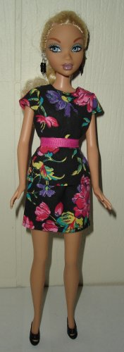 Barbie Doll Type Clothes Pink and Purple Flower Outfit