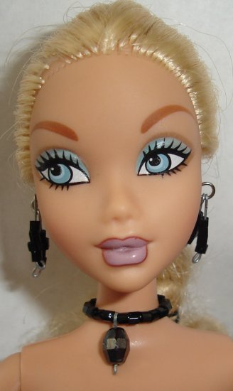 Barbie Doll Type Jewelry Black set