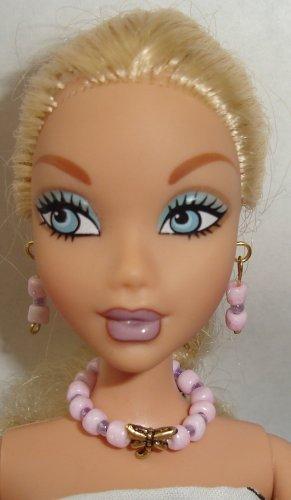 Barbie Doll Type Jewelry Pink Dragonfly set