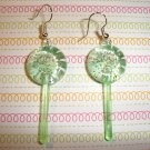 Watermelon Green Lollipop Sucker Earrings