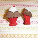 chocolate Ice Cream Sundae Earrings