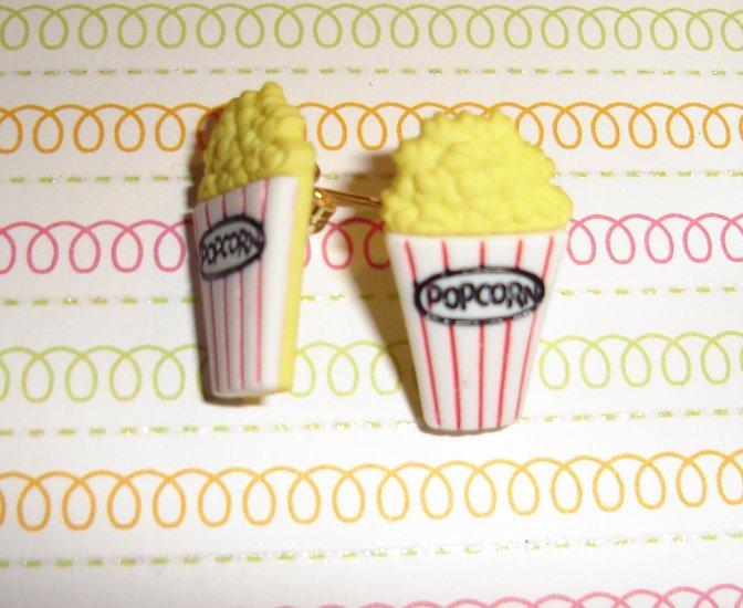 Movie Popcorn Earrings