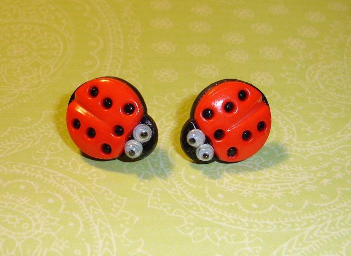 Goodluck Lady Bug Earrings