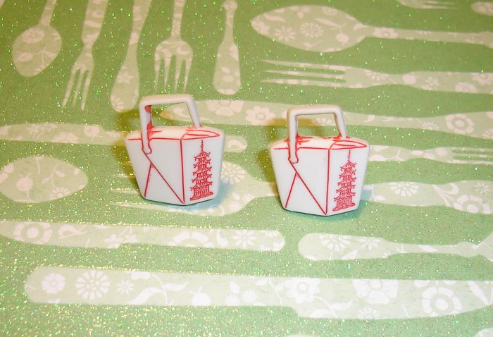Chinese Food Take Out Earrings
