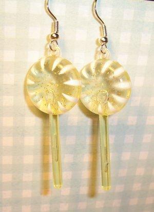 Pineapple Yellow Lollipop Sucker Earrings