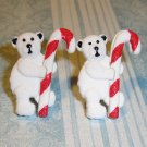 Holiday Winter Polar Bear Candy Cane Earrings