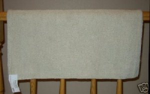 Mayatex Show Saddle Blanket Pad Solid Sand 36x34