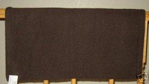 Mayatex Show Saddle Blanket Pad Chocolate Brown 36x34