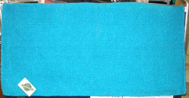 Mayatex Western Saddle Blanket Turquoise Blue 36x34