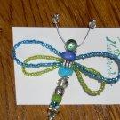 Dragonfly Pin Blue/Green