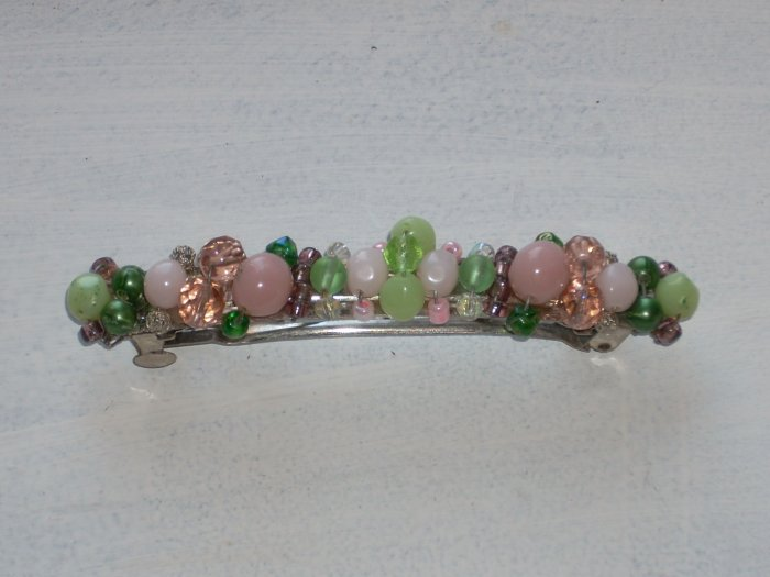 Green and Pink Barrette
