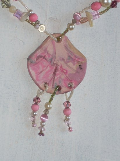 Pink sea shell Necklace