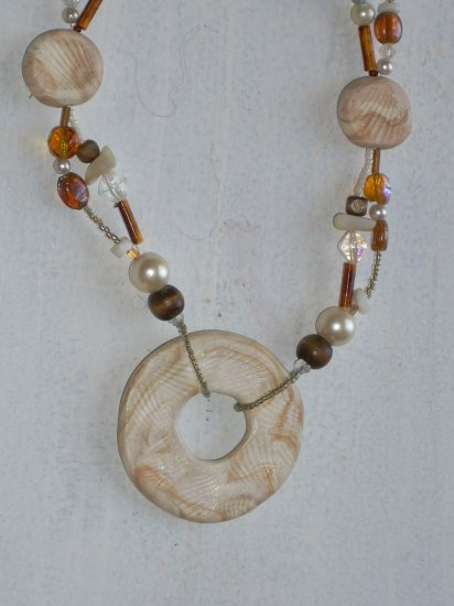 Ethnic, Pearls and Wood Nature inspired..