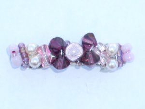 Ametyst with a touch of Pink Barrette