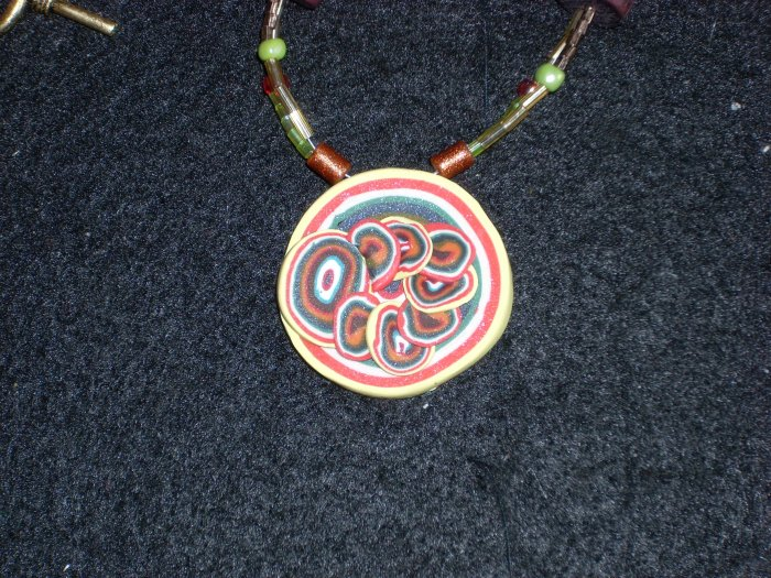 (On hold)Playful Reversible Medallion in vivid colors!