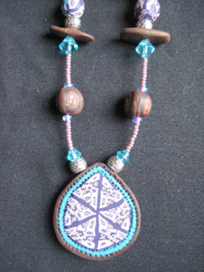 Ethinc in Purple and Turquoise with exotic wood