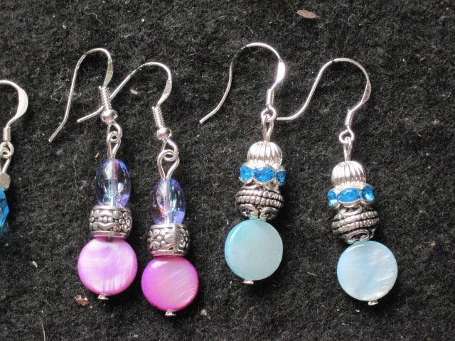 Sterling Silver Earrings (specify color)