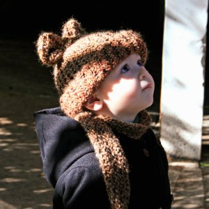 Rootbeer Bear Eared Bigger Baby 6-12 mo Soft Knit Hat