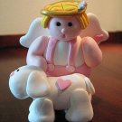 Handmade Polymer Clay Angel and Puppy Dog