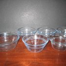 5 Pieces of Fire King Sapphire Blue Custard or Baker Cups